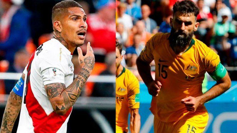 Con un gol de Paolo Guerrero, Perú derrotó a Australia