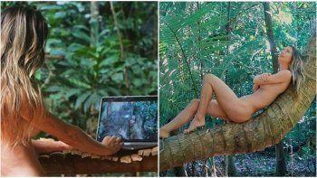 Una mujer se fue a vivir a la selva y se convirtió en una youtuber nudista