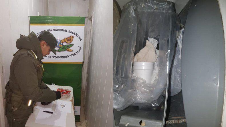 Hallaron marihuana oculta en el baño de un micro de larga distancia