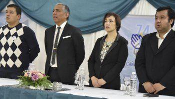 En la mesa de autoridades, Jorge Soloaga fue acompañado por el diputado provincial Gerardo Terraz y dos integrantes de su gabinete, Noelia Ercoreca y Javier Carrizo.