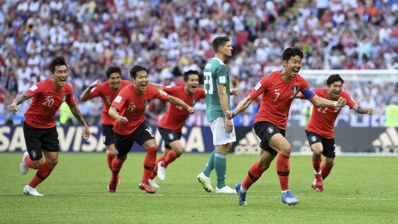 Corea del Sur festeja. Le ganó al campeón del mundo y lo eliminó de Rusia 2018.