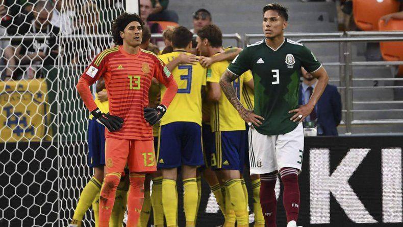Dura derrota le propinó Suecia a México en el cierre del Grupo F. Clasificaron los dos.