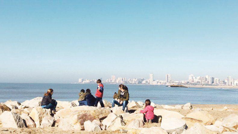 Mar del Plata, feliz  también en invierno