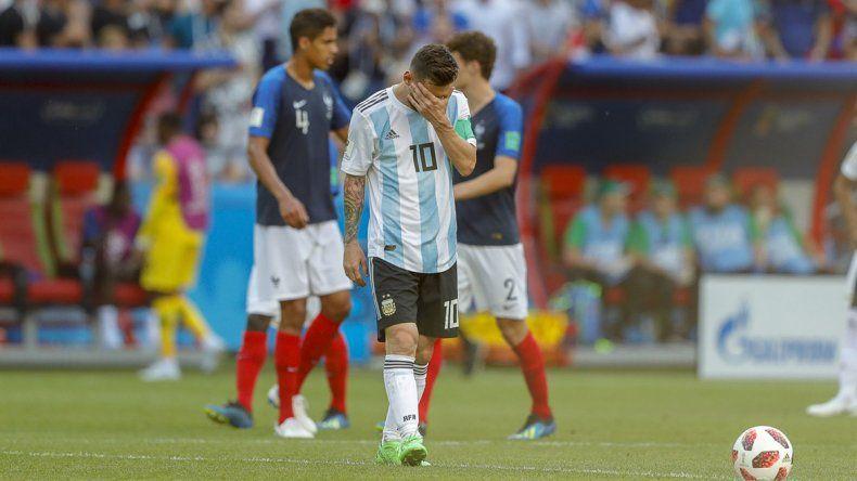 Messi y otra frustración. No se le pudo dar el milagro a la selección argentina.