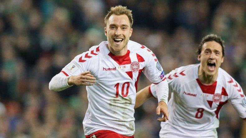 Chrsitian Eriksen es una de las cartas de gol que tiene Dinamarca para ilusionarse con los cuartos de final.