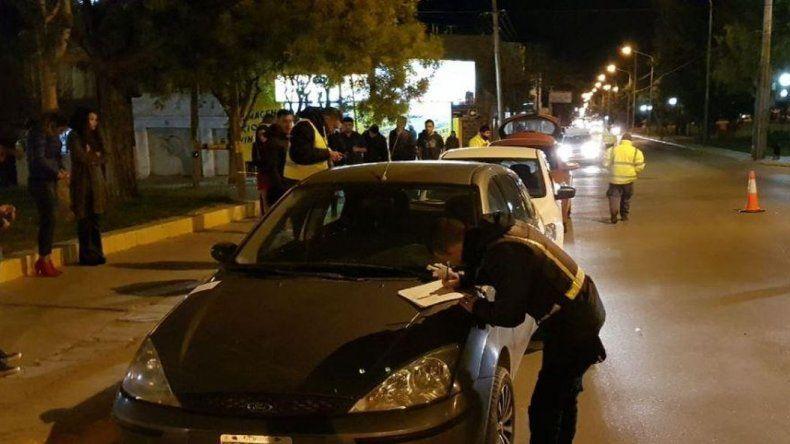 Cinco alcoholemias positivas  y un conductor que se escapó