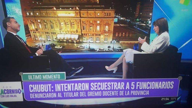 Patricia Bullrich acusó a los docentes de secuestrar a funcionarios de Chubut