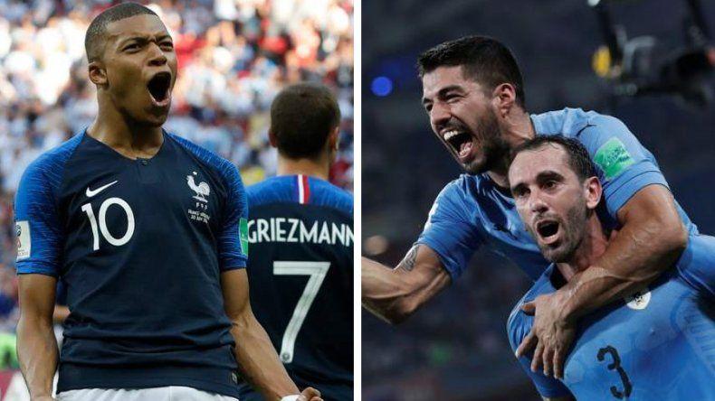El juvenil Kilian Mbappé es una de las figuras de Francia./ Luis Suárez es la carta de gol en el equipo de Oscar Tabárez.
