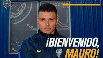 Boca le dio la bienvenida a Mauro Zárate