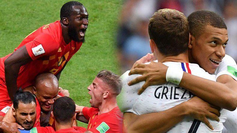 Francia superó a Bélgica y es el primer finalista