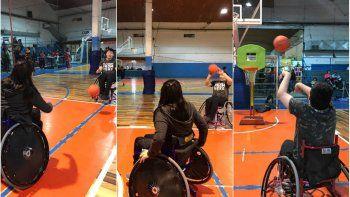el basquet adaptado suma entrenamientos en cai