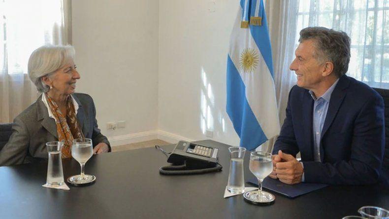 La directora del FMI llega al país para reunirse con Macri