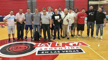 Dirigentes y mánagers de Argentina que participaron del histórico evento realizado en Las Vegas, Estados Unidos.