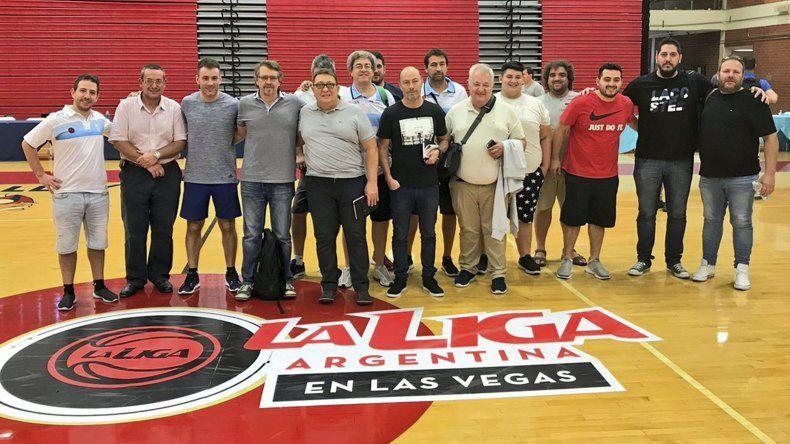 Dirigentes y mánagers de Argentina que participaron del histórico evento realizado en Las Vegas