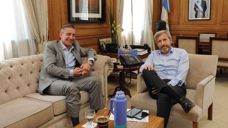 Arcioni se reúne con Frigerio para analizar la llegada de fondos del Pacto Fiscal