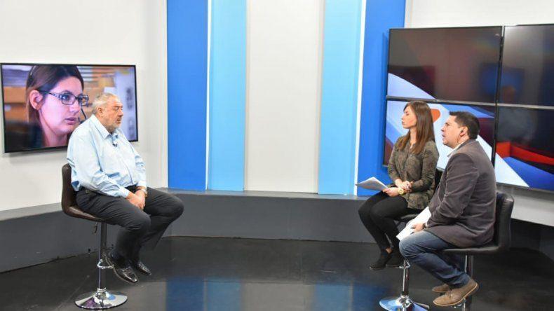 Julio Ramírez anticipó los progresos del Banco Chubut en una entrevista televisiva que brindó al canal estatal de TV.