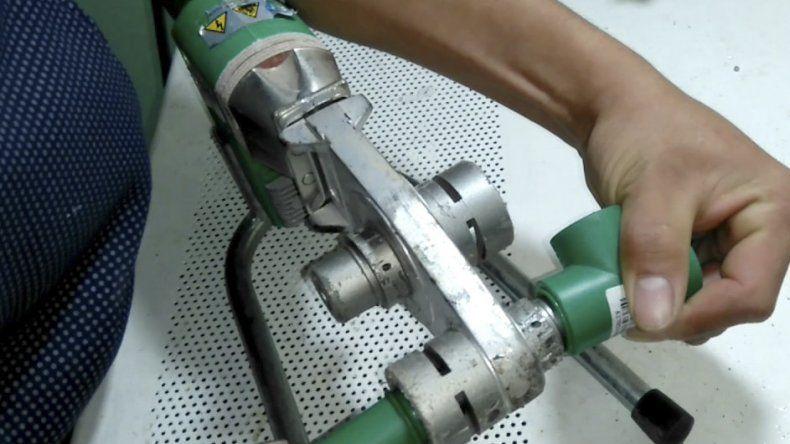 Roban costosa termofusionadora de la ferretería Fausto