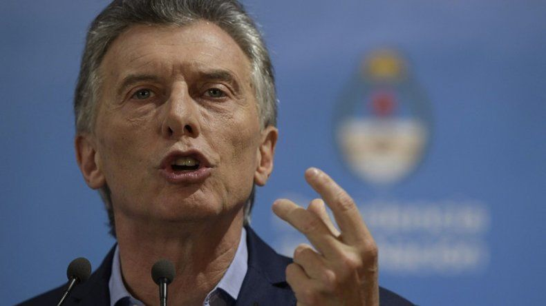 Mauricio Macri durante la conferencia de prensa que brindó ayer por la tarde en la Residencia de Olivos.