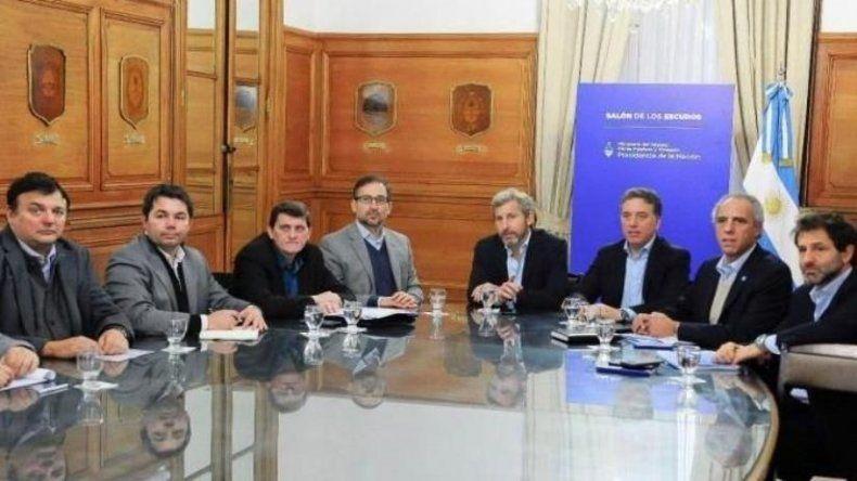 Parte de los responsables de carteras económicas de otras provincias mantuvieron una reunión conjunta con los ministros nacionales Nicolás Dujovne y Rogelio Frigerio.