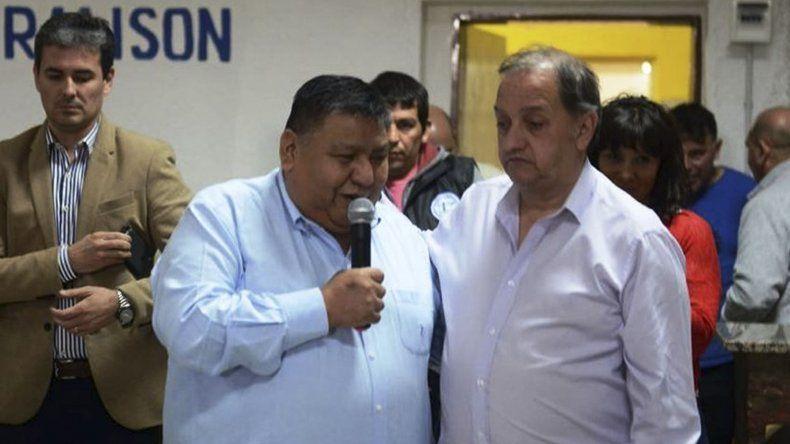 El intendente Linares y el sindicalista Jorge Avila siguieron de cerca la votación de ayer en la Legislatura.