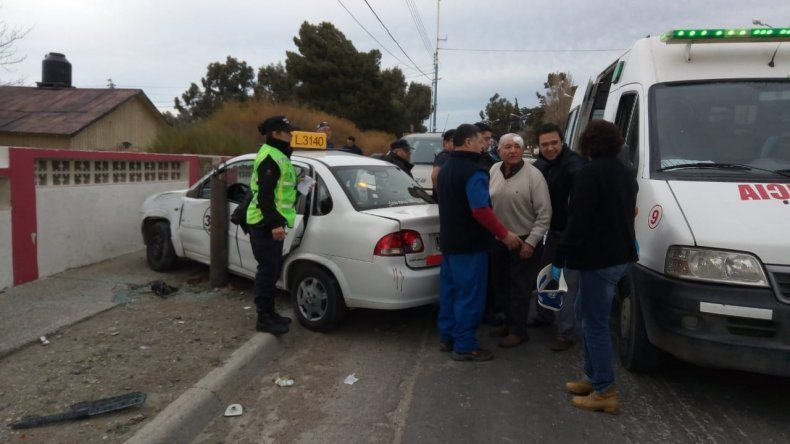 Un taxista herido tras un accidente en Ruta 3