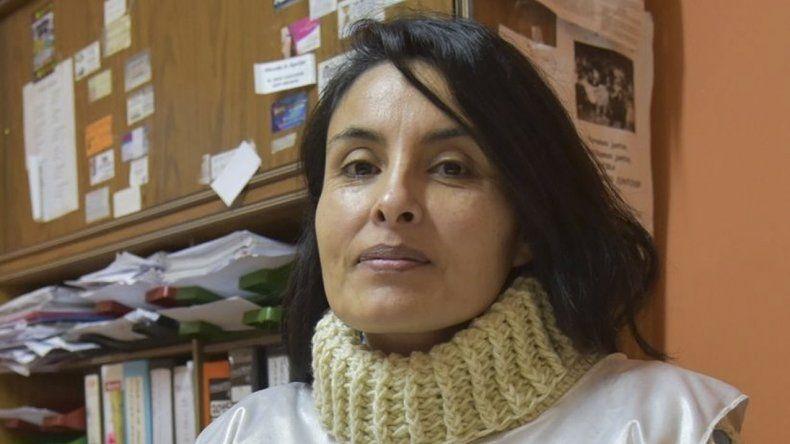 La secretaria de la filial Caleta Olivia de ADOSAC