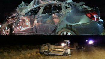 Un hombre y su hijo murieron tras un vuelco en Ruta 3