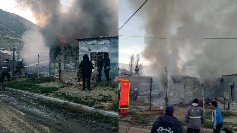 Se incendió una vivienda en zona de Quintas: las pérdidas fueron totales