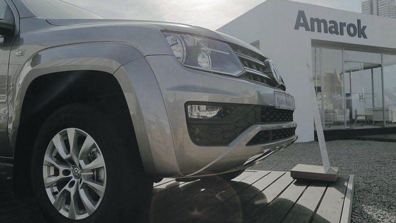 Amarok v6. Es el modelo estrella en el stand de Volkswagen.