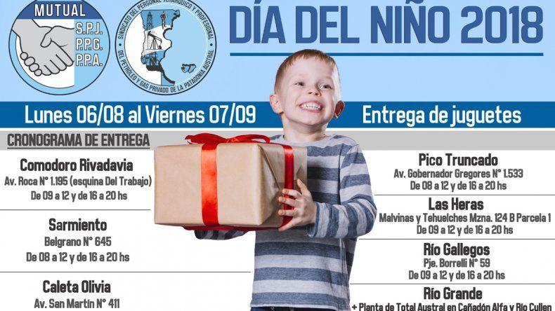 El Sindicato de Petroleros Jerárquicos se prepara para la entrega de juguetes que realiza cada año por el Día del niño.