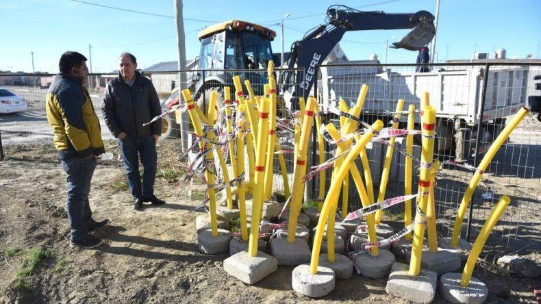 Comenzaron las obras de gas en el barrio René Favaloro