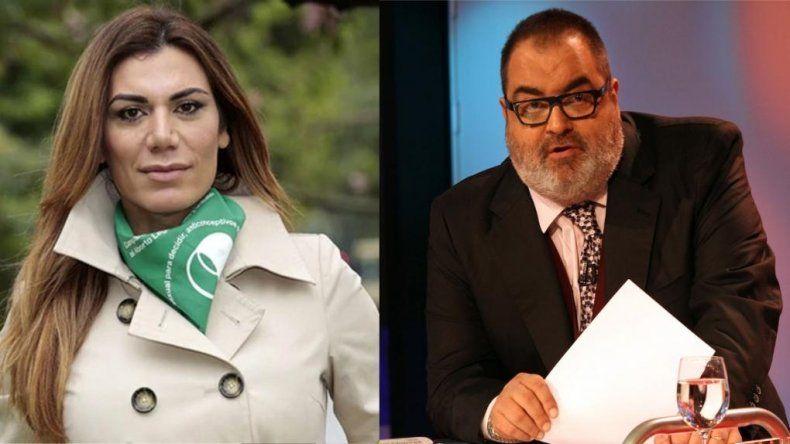 Florencia de la V denunció a Jorge Lanata ante el INADI