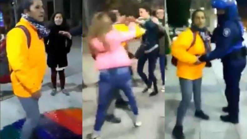 Brutal ataque de una empleada municipal a militantes por el aborto legal