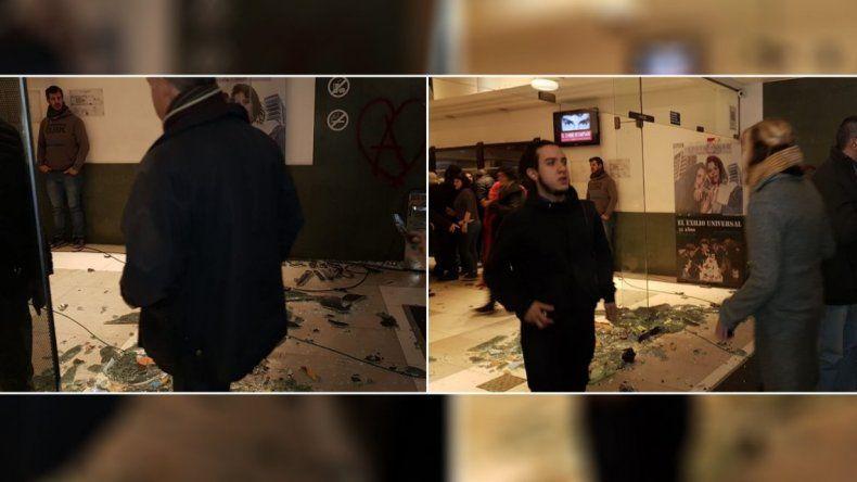 Ataque en la presentación del documental de Santiago Maldonado