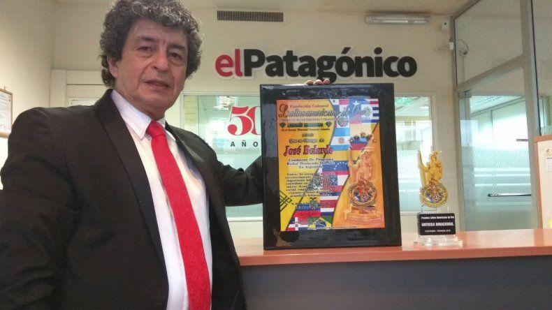 José Belarde se quedó con el premio de mejor conductor de un programa radial en Argentina
