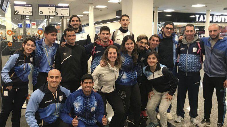 La delegación argentina a pleno