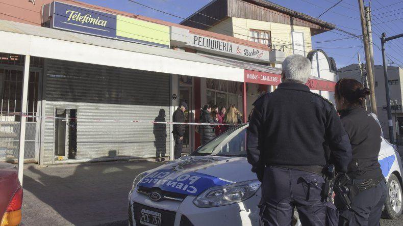 El multirrubro donde el viernes por la tarde fue hallada asesinada la comerciante.