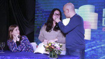 Santiago Giorgini y Chantal Abad interactuaron continuamente con el público.
