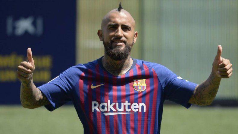 Arturo Vidal fue presentado en el Barcelona