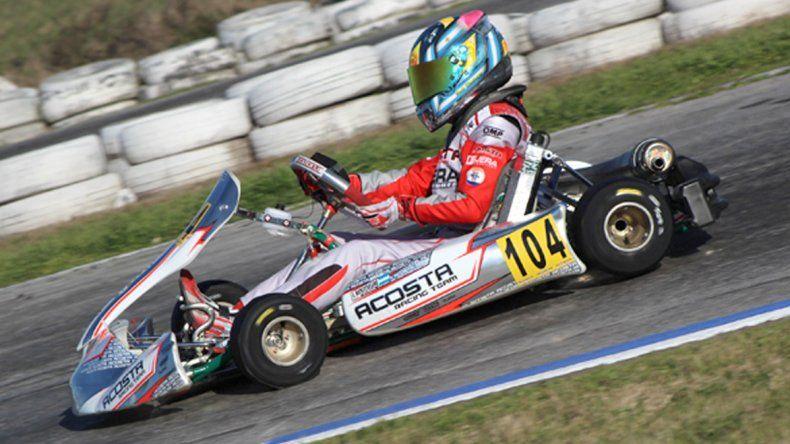 El kárting de Ignacio Montenegro que corrió el último fin de semana en Zárate.