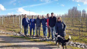 Antes del encuentro, la comitiva realizó una visita guiada por el emprendimiento agroturístico Viñas del Nant y Fall.