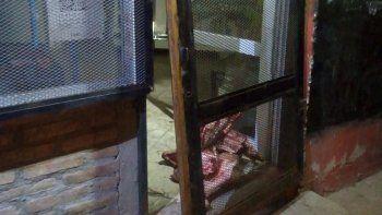 Lo atrapan de madrugada en el interior de una carnicería