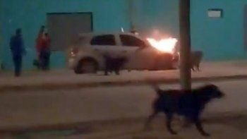 agente de guardia urbana detuvo un incendio en sarmiento