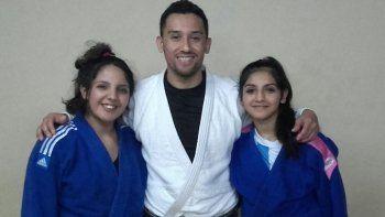 Aldana Smart, Hugo Arismendi y Antonella Smart, parte de los referentes de la delegación de judo de Comodoro Rivadavia.
