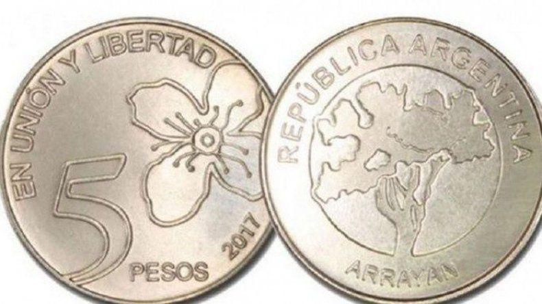 Comenzaron a circular las monedas de 5 pesos