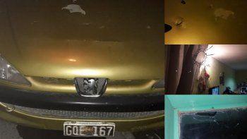 balearon el automovil de una familia en barrio niaco