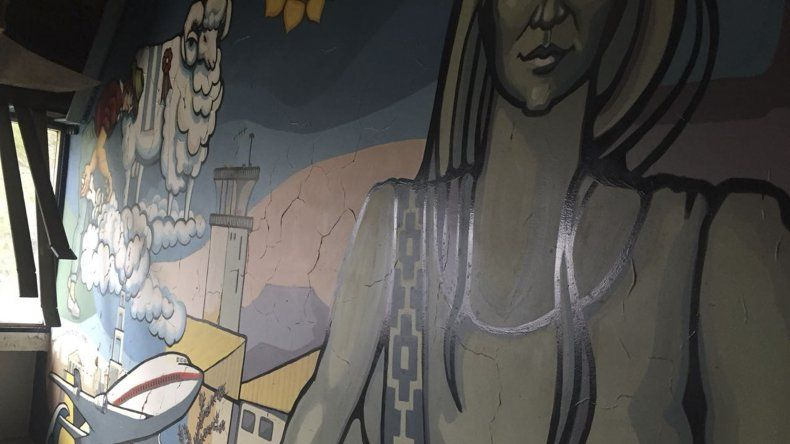 Así luce hoy el mural de Dolores Morón. Antes de tener la autorización para destruirlo