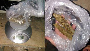 secuestraron marihuana y 10 mil pesos en kilometro 8