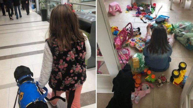 Echaron a una nena autista chubutense de un restaurante porteño por entrar con su perro