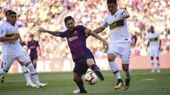 barcelona goleo a boca y se quedo con el trofeo joan gamper